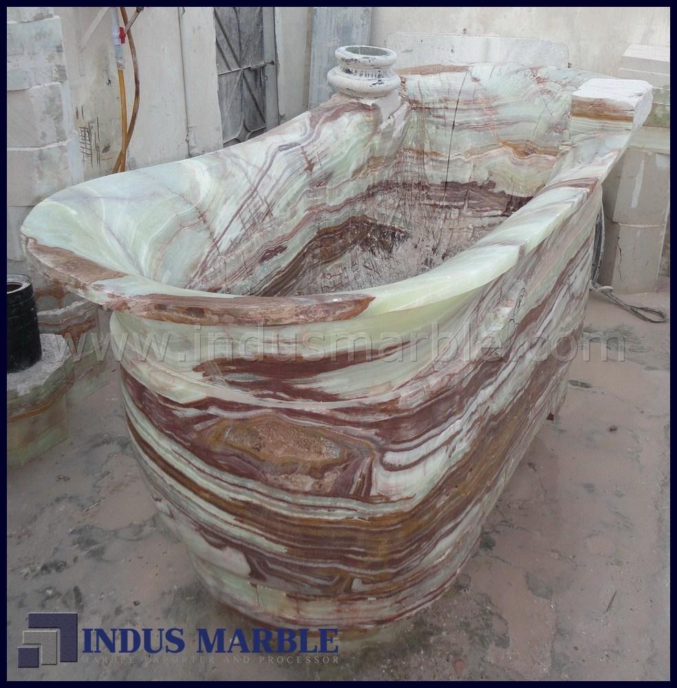 Onyx Shower Over Tub : Bath tub onyx indus marble