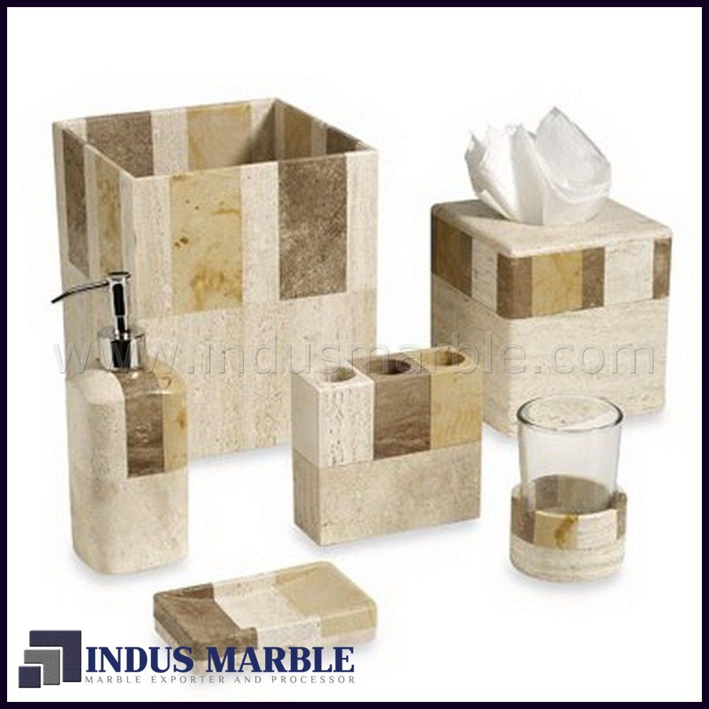 Bath room accessories marble indus marble for Marble bathroom accessories