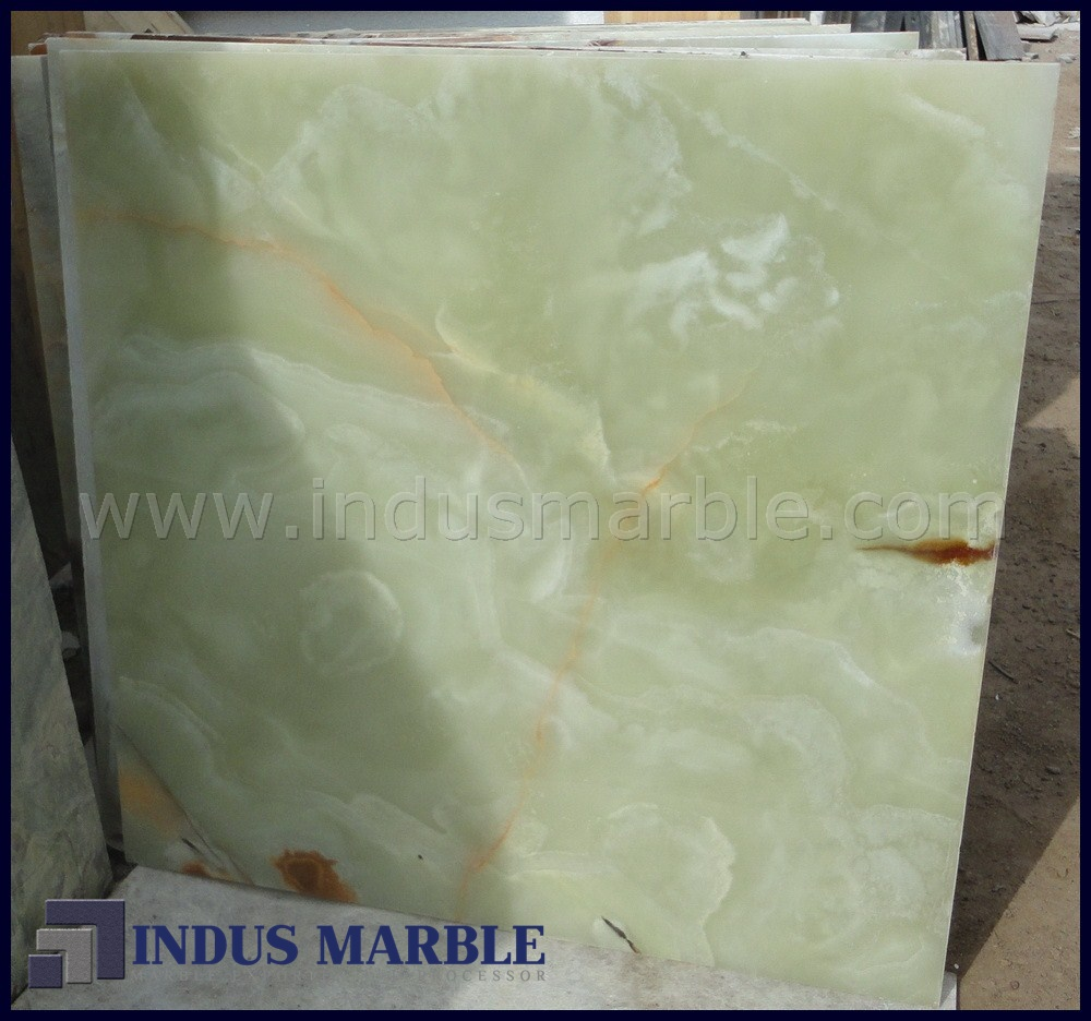 Green Onyx Marble Tile : Pure green onyx tile indus marble