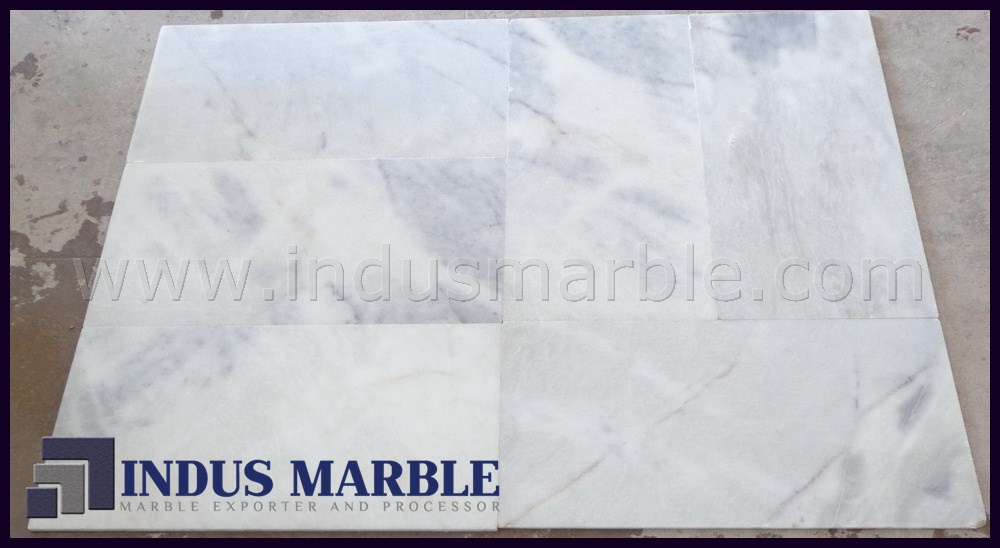 Sunny White Marble Tiles Indus Marble